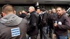 Polizisten und Gefängniswärter demonstrieren in Genf.