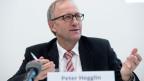 Peter Hegglin, Präsident der Konferenz der kantonalen Finanzdirektorinnen und Finanzdirektoren (FDK),  am 12. Dezember 2014 in Bern.