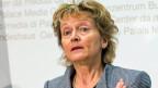 Bundesrätin Eveline Widmer-Schlumpf erläutert die Unternehmenssteuerreform III, nachdem der Bundesrat die Vernehmlassung dazu eröffnet hat, am Montag, 22. September 2014, in Bern.