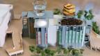 Modell des Schweizer Pavillons für die Expo 2015.