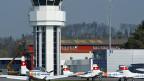 Tower auf dem Flughafen Bern-Belp.