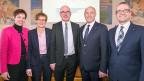 Der neue basellandschaftliche Regierungsrat. Das Zusammengehen von FDP und SVP im Kanton Baselland lässt sich nicht auf den eidgenössischen Wahlkampf übertragen.  Die inhaltlichen Differenzen sind zu gross, die gegenseitige Kompromissbereitschaft zu gering.
