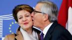 Bundespräsidentin Simonetta Sommaruga reiste nach Brüssel, um mit dem EU-Präsidenten Jean-Claude Juncker über die Umsetzung der Masseneinwanderungs-Initiative zu sprechen.
