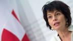 Umweltministerin Doris Leuthard präsentiert das Klima-Reduktionsziel der Schweiz am 27. Februar 2015.