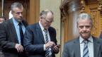 Der Aargauer Hans Killer, zusammen mit zwei SVP-Parteikollegen im Nationalrat. Er meint: Kompromisse brauche es in der Politik, und gerade als SVP-Mann verstehe er die Anliegen von siegreichen Initianten.