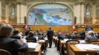Je näher die Wahlen, desto schärfer die Töne. Nationalräte debattieren am 17. März 2015 während der Frühlingssession in Bern.