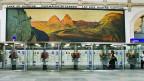 Das riesige Wandbild mit dem Vierwaldstättersee in der Basler Bahnhofshalle wird bald in neuem Glanz erstrahlen.