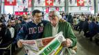 Boris und Attilio Bignasca in Lugano am Fest zum 25-Jahr-Jubiläum der Zeitung «Mattina della Domenica».