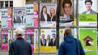 Funktioniert es in Zürich, dann funktioniert es auch im Rest der Schweiz – so das Credo der meisten Parteien. Wahlplakate in Zürich.