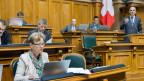 Bundesrat Alain Berset an der Debatte um das Heilmittelgesetz. Sondersession im Nationalrat in Bern. 4. Mai 2015.