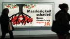Ein Plakat wirbt für ein Ja zur SVP-Volksinitiative «Gegen Masseneinwanderung» über welche am 9. Februar 2014 abgestimmt wurde.