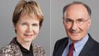 Brigitte Häberli, Ständerätin der CVP des Kantons Thurgau (links) und Felix Gutzwiller, Ständerat der FDP des Kantons Zürich.
