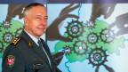 Korpskommandant Andre Blattmann, Chef der Armee, anlässlich der Medienkonferenz am Schlussanlass der Sicherheitsverbundübung im November 2014.
