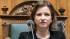 Nationalratsvizepräsidentin Christa Markwalder gab zu, sie habe den ominösen Vorstoss nicht selbst verfasst.