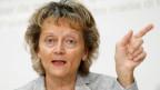 Bundesrätin Eveline Widmer-Schlumpf während einer Medienkonferenz über die Unternehmenssteuerreform III am 5. Juni 2015 in Bern.
