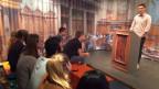 Mit Parlamentsspiel und Ausstellung will der Bund Jungen die Funktion der Politik näherbringen. Szene aus dem nachgestellten Nationalratssaal im Politforum Käfigturm.