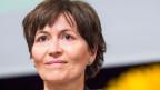 Regula Rytz, Co-Präsidentin Grüne Schweiz an der Delegiertenversammlung in Rotkreuz am 23. August 2014.