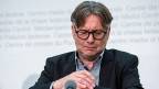 Hanspeter Thür, eidgenössischer Datenschutz- und Öffentlichkeitsbeauftragter, an seiner letzten Jahresmedienkonferenz in Bern.