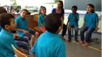 Syrische Kinder im Flüchtlings-Zentrum Marienburg.