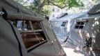 Elf Männer wohnen zurzeit in den Zelten, Platz hätte es für 60 Personen.