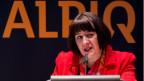 CEO Jasmin Staiblin an der Generalversammlung der Alpiq Holding AG am 30. April 2015.