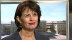 Bundesrätin Doris Leuthard, Vorsteherin des Eidgenössischen Departements für Umwelt, Verkehr, Energie und Kommunikation UVEK.