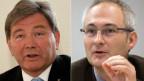 Der Nidwaldner SVP-Regierungsrat Res Schmid (links) und der Berner Regierungsrat Bernhard Pulver.