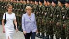 Zwei Frauen mit Macht: Bundespräsidentin Simonetta Sommaruga und die deutsche Bundeskanzlerin Angela Merkel in Bern.