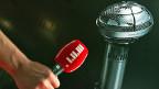 Zwei Mikrofone eines, das 2005 im Gebrauch war - und eines, das zum 60-Jahr-Jubiläum des Echos kreiert wurde