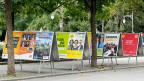 Zeit der Parteienwerbung: Wahlplakate in Bern.