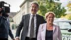 Der bestätigte Bündner Nationalrat Heinz Brand und die neu gewählte SVP Nationalrätin Magdalena Martullo-Blocher.