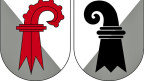 ie beiden Wappen von Basel.