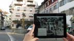 Die App «Swiss Squares» in Aktion auf dem Kolinplatz in Zug.