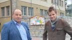 Konrad Martig (links), Gemeindepräsident von Gampel-Bratsch, und Damian Gsponer , Bildungsvisionär und Schulleiter der neuen Privatschule in Bratsch.