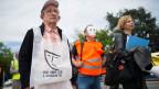 Asbestopfer demonstrieren im Mai 2013 in Genf.