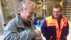 Altlasten-Spezialist Werner Baumann (l.) und Gemeinderat Roland Meier in der Kläranlage der Mülldeponie Bärengraben.
