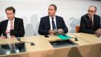 Thomas Aeschi, Norman Gobbi und Guy Parmelin: das Dreier-Ticket der SVP.
