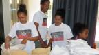 Mittagsbuffet mit Injera (eritreisches Fladenbrot) am Kongress der ESMNS (Eritrean Solidarity Movement for National Salvation; Eritreische Solidaritätsbewegung zur Nationalen Errettung) in Heiden (AR).