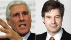 Rudolf Strahm, Alt SP-Nationalrat und ex-Preisüberwacher (links) und Peter Fischer, NZZ-Wirtschaftschef.
