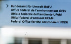«Bundesamt für Umwelt BAFU» steht auf der gläsernen Eingangstüre in Ittigen.