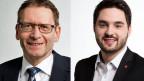 Der Solothurner CVP-Ständerat Pirmin Bischof (links) und Cedric Wermuth, SP-Nationalrat Aargau diskutieren über die Abstimmungsvorlage «Keine Spekulation mit Nahrungsmitteln».