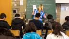 Der erste Schritt zur Integration ist die Sprache. Deutschunterricht im Bundesasylzentrum Glaubenberg in Sarnen.