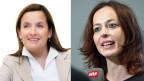 Natasja Sommer vom Zigarettenkonzern JTI (links) und Irene Abderhalden von Sucht Schweiz.