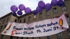 Im Alltag junger Frauen ist der «Kampf der Geschlechter» heute nicht mehr das ganz grosse Thema. Bild: Frauenstreiktag am 14. Juni 1991 in Zürich.