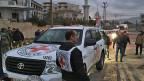 «Man ist Partei für die Bevölkerung, man ist Partei für die Leute, die wirklich auf humanitäre Hilfe angewiesen sind; im Fall von Syrien sind das 13,5 Millionen – und für diese setzen wir uns ein», sagt Thomas Oertle von der DEZA. Bild: Die IKRK hilft im belagerten syrischen Ort Madaya.