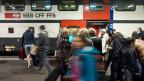 Die Schweizer sind treue Bahnfahrer - die Passagierzahlen steigen Jahr für Jahr.