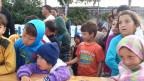 Flüchtlingskinder im Hafen von Piräus.