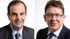 Gerhard Pfister, CVP-Parteipräsident (links) und Albert Rösti, SVP-Parteipräsident.