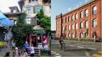 Die Berner Reitschule (links) ist und bleibt ein Streitobjekt. Anders die Rote Fabrik (rechts) in Zürich. Auch sie ist ein Kind der 80er-Bewegung, auch sie ist ein Kulturzenturm, aber seit Jahren völlig unbestritten.