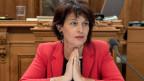 Bundesrätin Doris Leuthard äussert sich zur Energiestrategie 2050 am 31. Mai 2016.